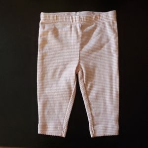 Carter's 3 month white and pink striped pants